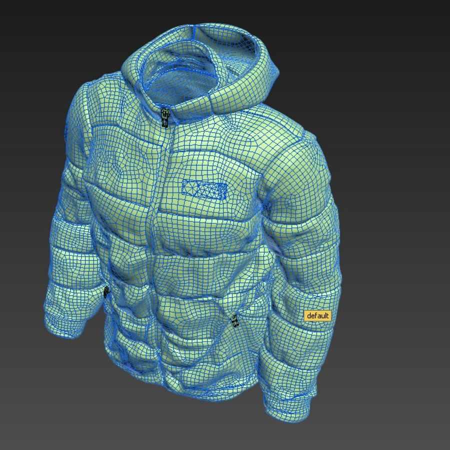 Sports winter jacket royalty-free 3d model - Preview no. 8