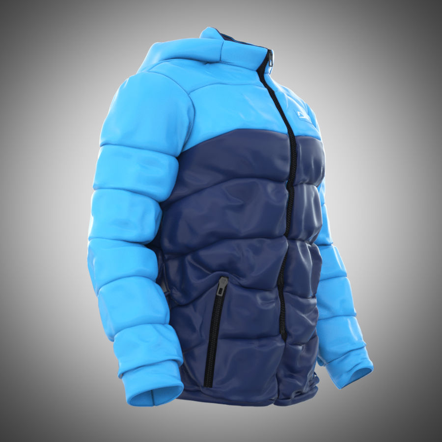 Sports winter jacket royalty-free 3d model - Preview no. 2