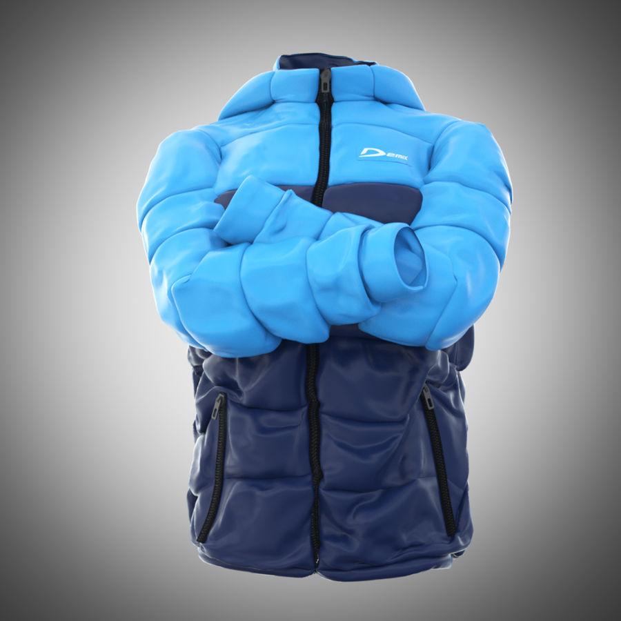 Sports winter jacket royalty-free 3d model - Preview no. 3