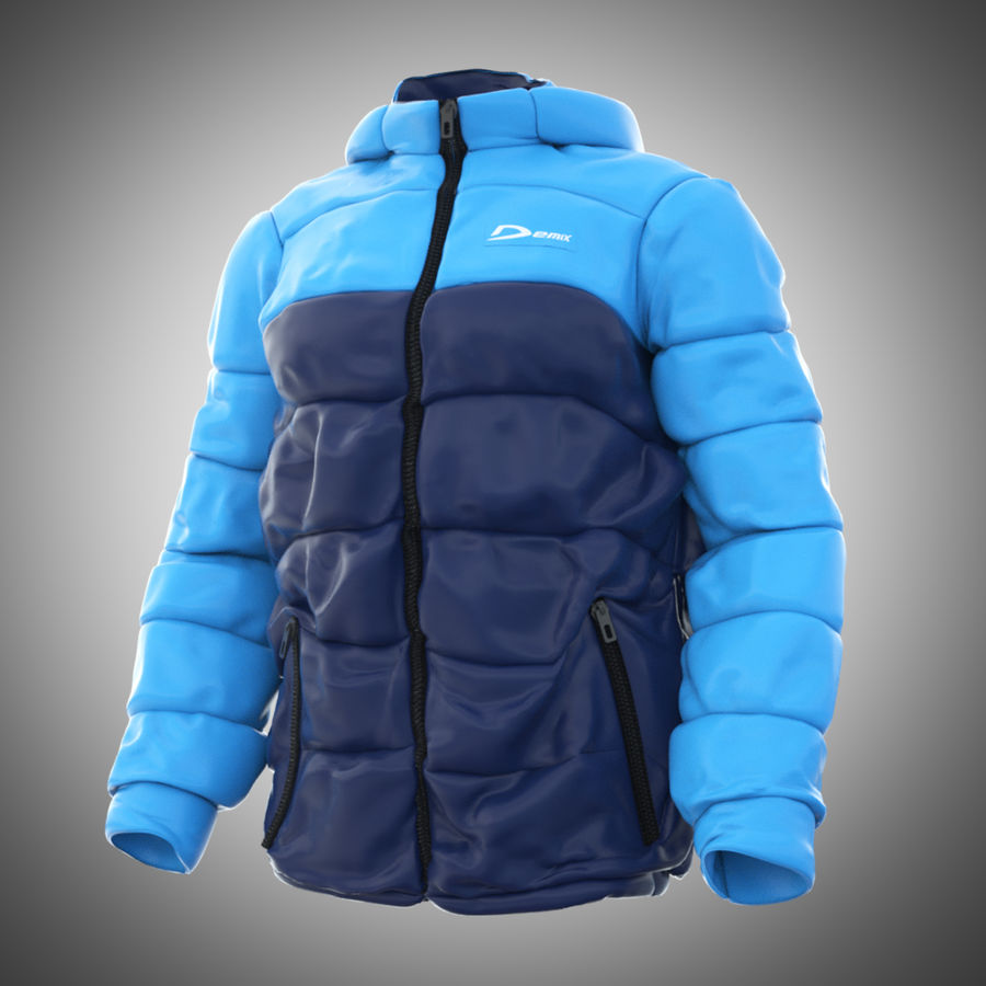 Sports winter jacket royalty-free 3d model - Preview no. 1