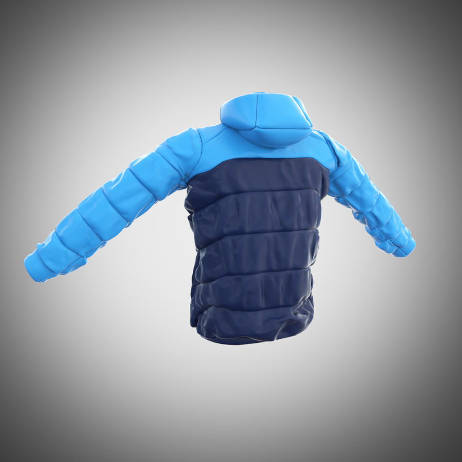 Sports winter jacket royalty-free 3d model - Preview no. 6