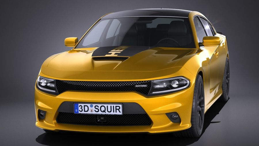 Dodge Charger Daytona 2017 royalty-free 3d model - Preview no. 2