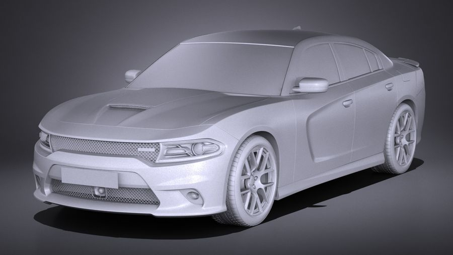 Dodge Charger Daytona 2017 royalty-free 3d model - Preview no. 9