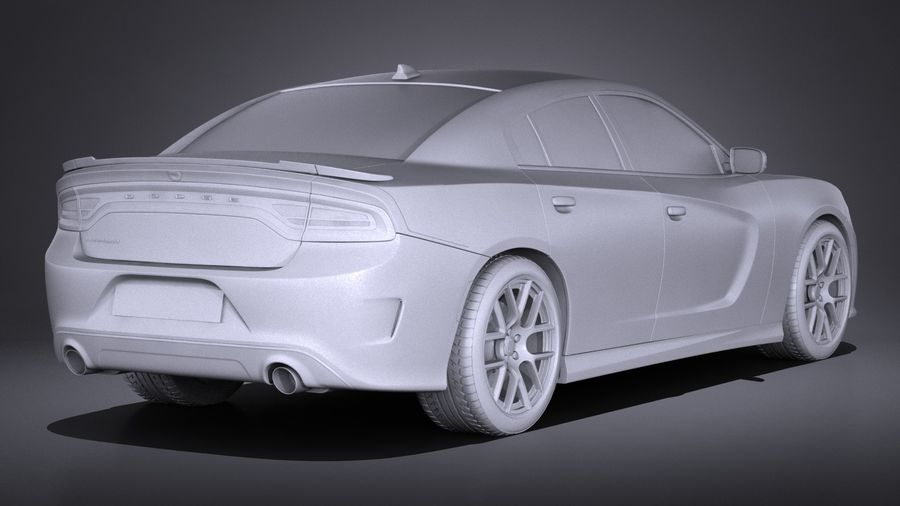 Dodge Charger Daytona 2017 royalty-free 3d model - Preview no. 12