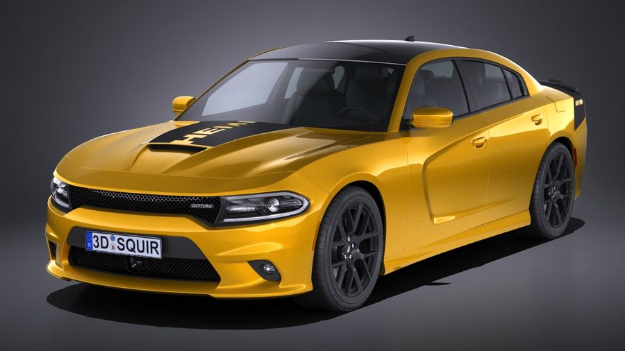 Dodge Charger Daytona 2017 royalty-free 3d model - Preview no. 1