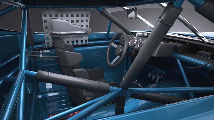 Plymouth Roadrunner NASCAR Richard Petty 1971 royalty-free 3d model - Preview no. 9