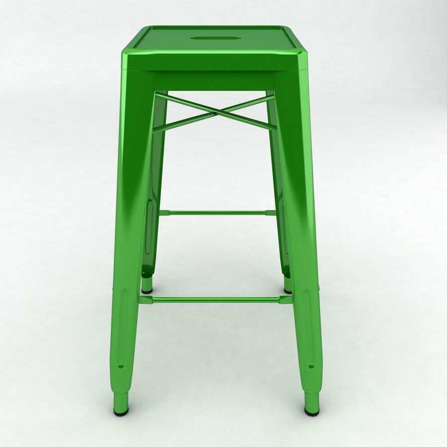 Tall Metal Stool royalty-free 3d model - Preview no. 5