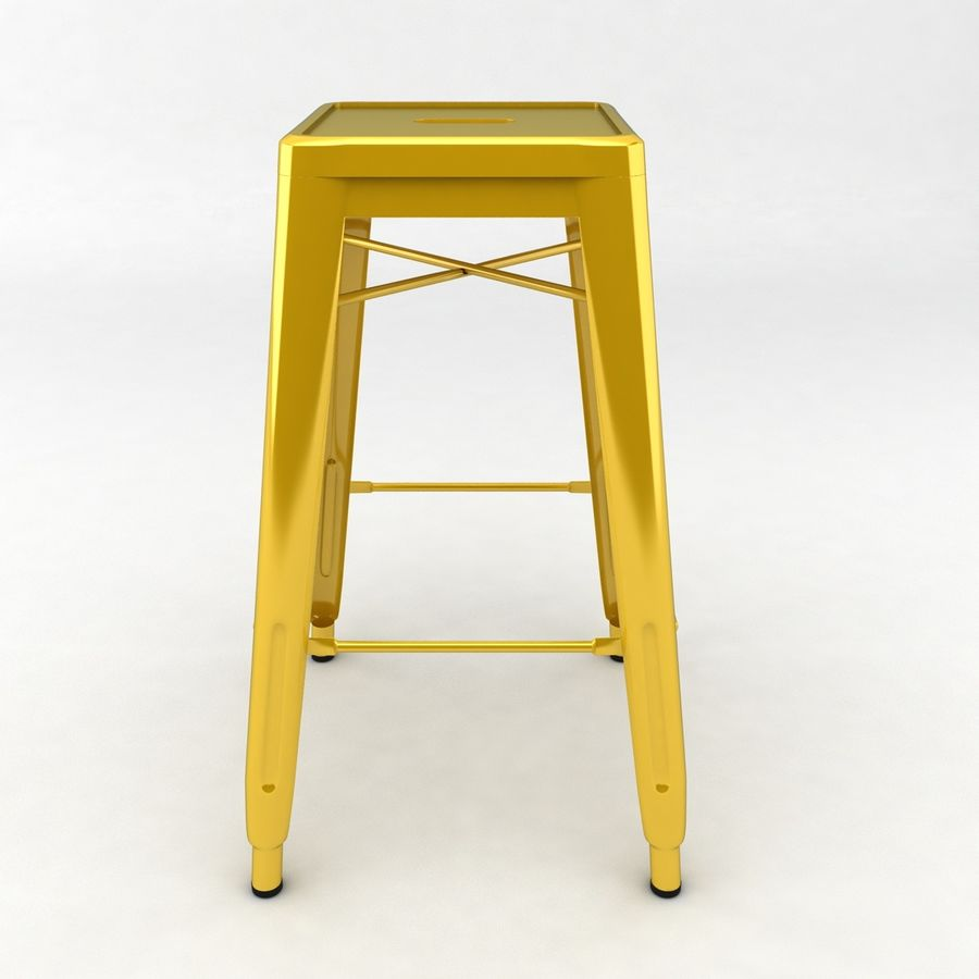 Tall Metal Stool royalty-free 3d model - Preview no. 4