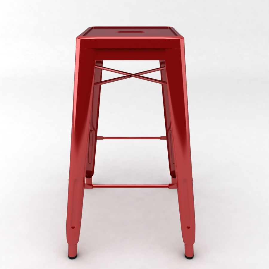 Tall Metal Stool royalty-free 3d model - Preview no. 3
