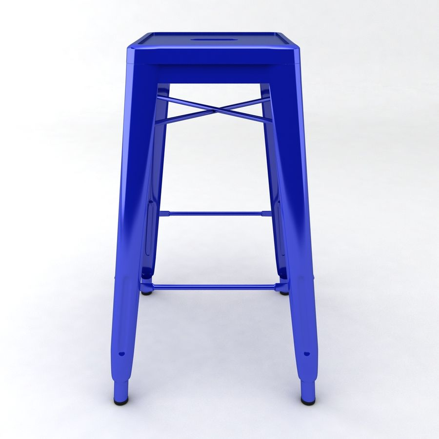 Tall Metal Stool royalty-free 3d model - Preview no. 2