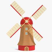 Cartoon Windmill 3d model