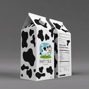 Cartón de leche modelo 3d