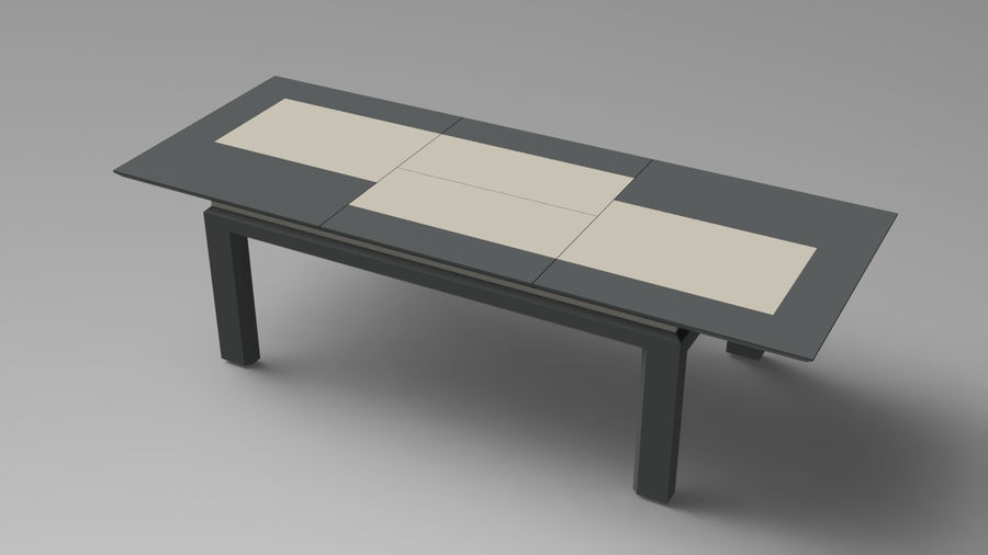 Extendable Modern Table Set royalty-free 3d model - Preview no. 12