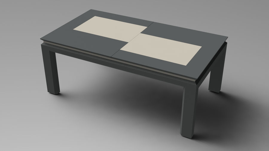 Extendable Modern Table Set royalty-free 3d model - Preview no. 11