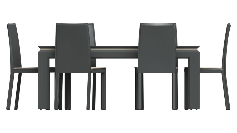 Extendable Modern Table Set royalty-free 3d model - Preview no. 5