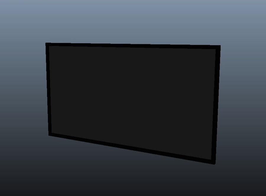 Flat Screen TV royalty-free 3d model - Preview no. 4