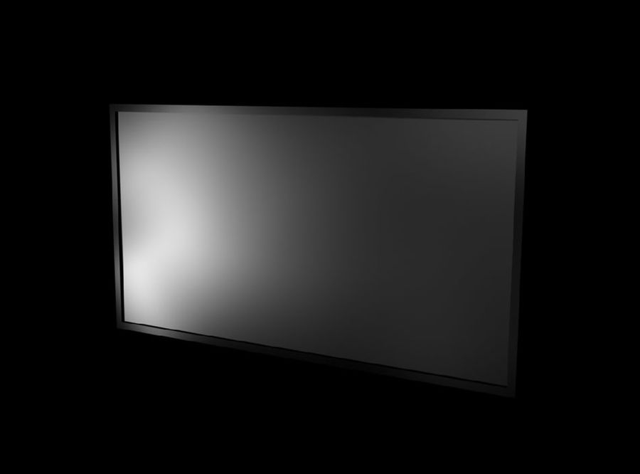 Flat Screen TV royalty-free 3d model - Preview no. 1