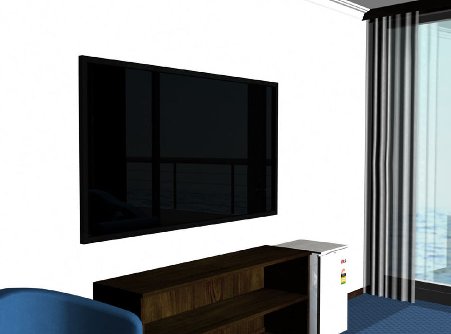 Flat Screen TV royalty-free 3d model - Preview no. 2