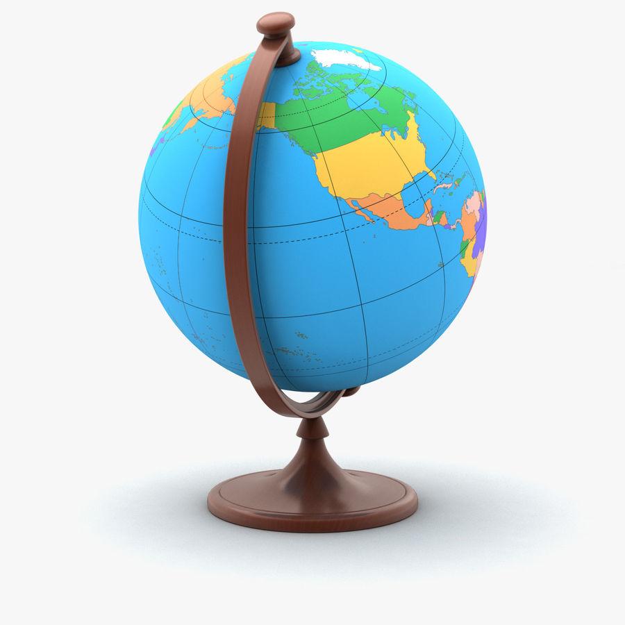 Rotating globe royalty-free 3d model - Preview no. 3