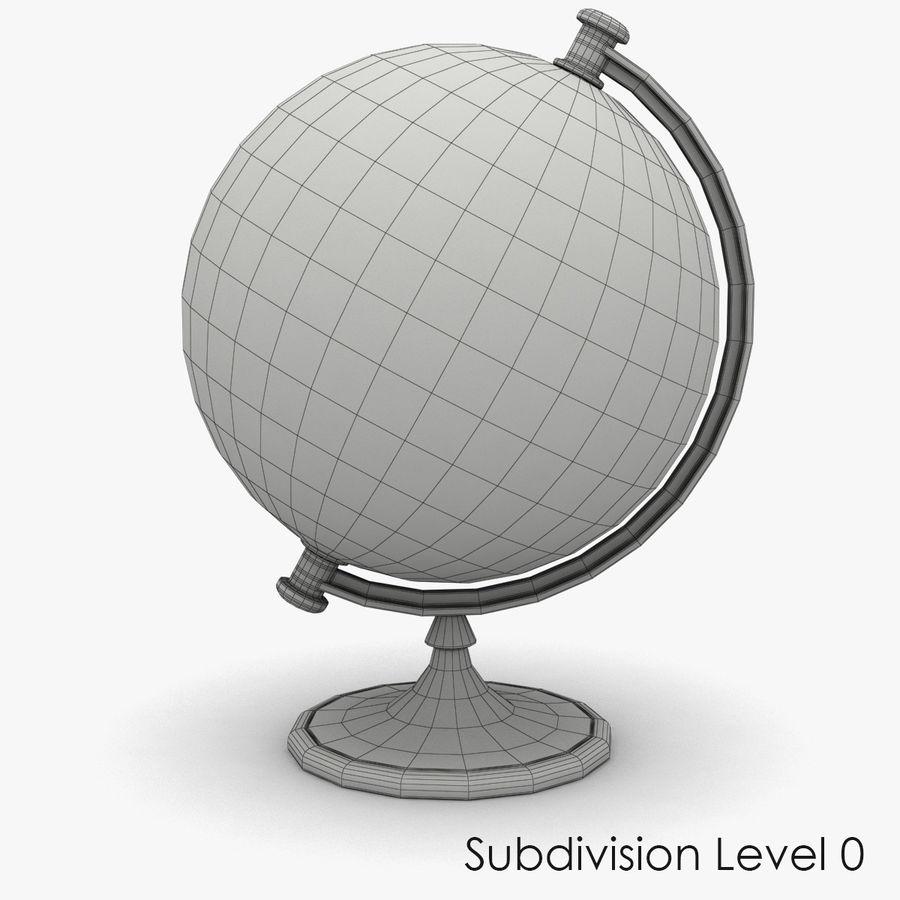 Rotating globe royalty-free 3d model - Preview no. 6