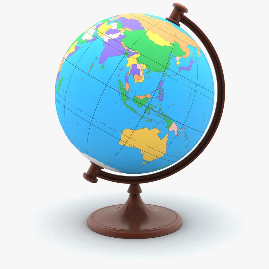 Rotating globe royalty-free 3d model - Preview no. 1
