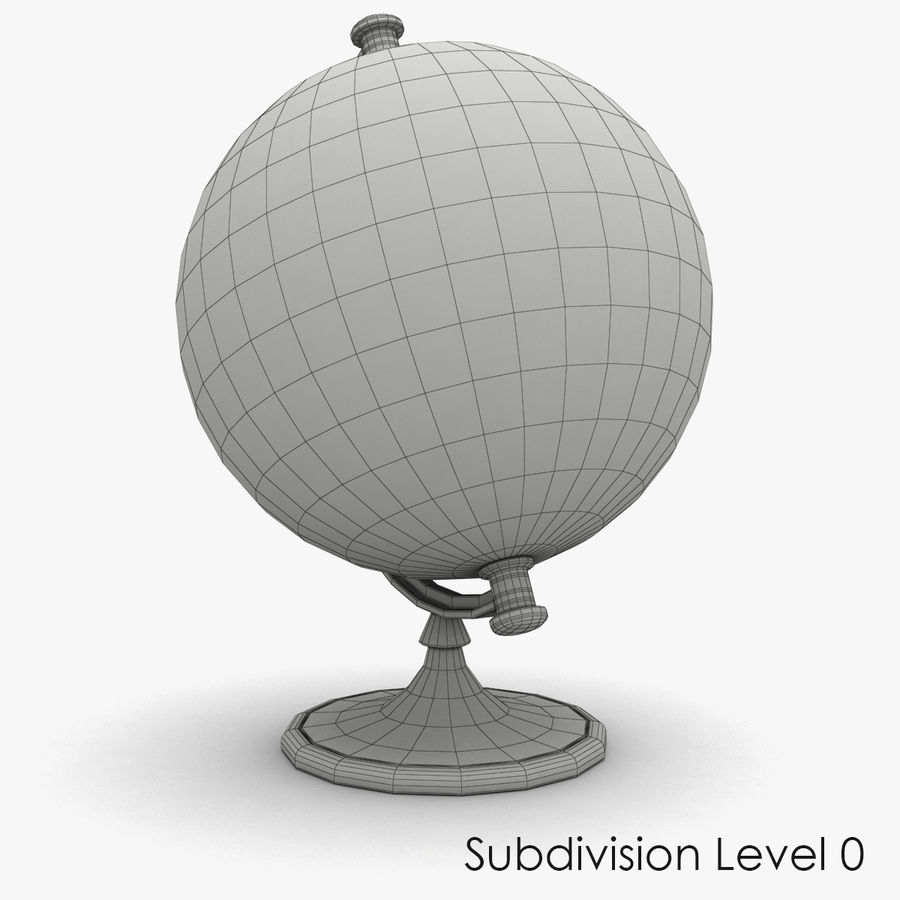 Roterende globe royalty-free 3d model - Preview no. 7