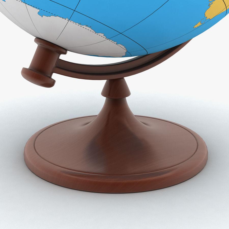 Rotating globe royalty-free 3d model - Preview no. 5