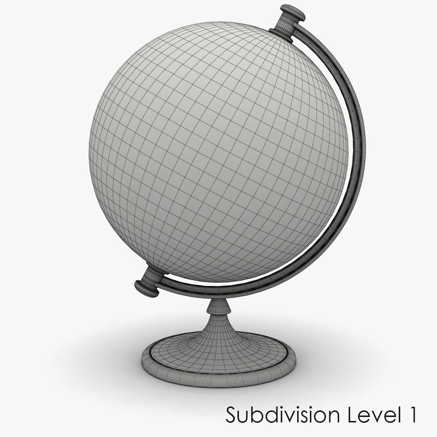 Roterende globe royalty-free 3d model - Preview no. 11