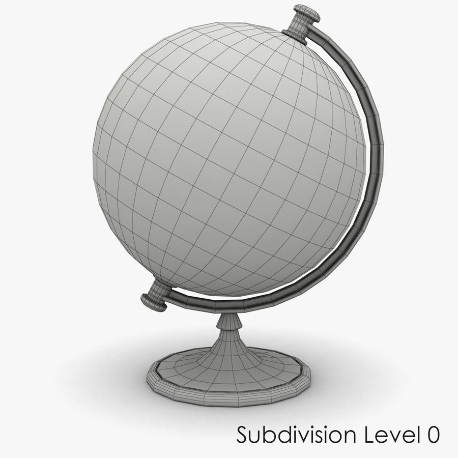 Roterende globe royalty-free 3d model - Preview no. 6