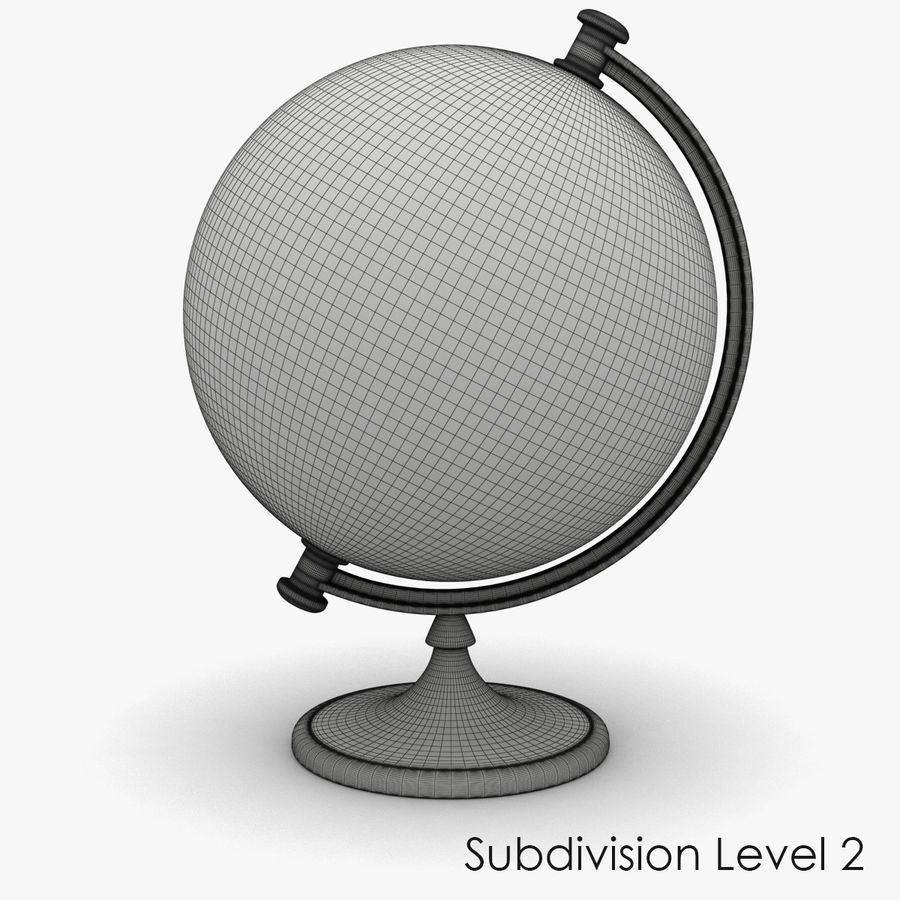 Roterende globe royalty-free 3d model - Preview no. 12