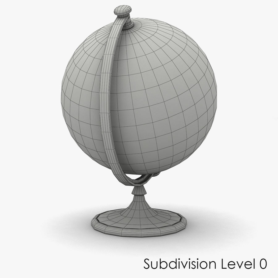 Roterende globe royalty-free 3d model - Preview no. 8