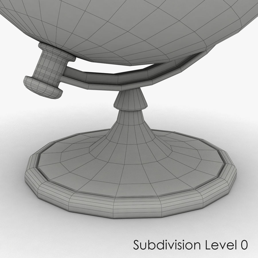Roterende globe royalty-free 3d model - Preview no. 10