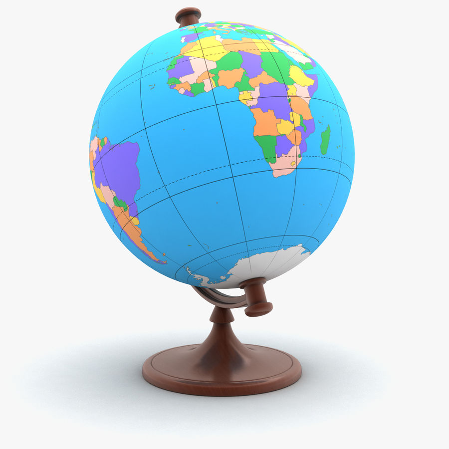 Roterende globe royalty-free 3d model - Preview no. 2