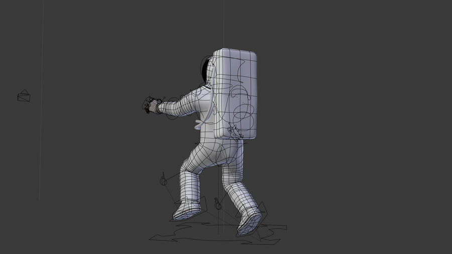 Astronaut royalty-free 3d model - Preview no. 6