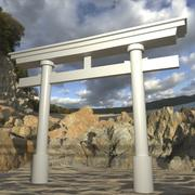 Torii Gate 001 Brak tekstury 3d model