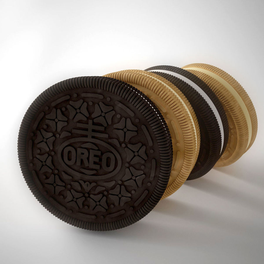 oreo royalty-free 3d model - Preview no. 2