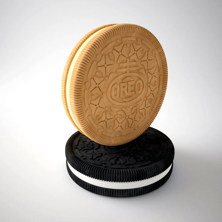 oreo royalty-free 3d model - Preview no. 3