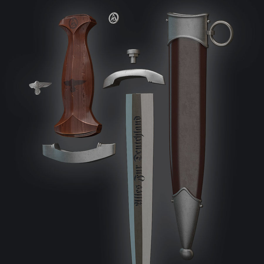 SA Dagger royalty-free 3d model - Preview no. 4