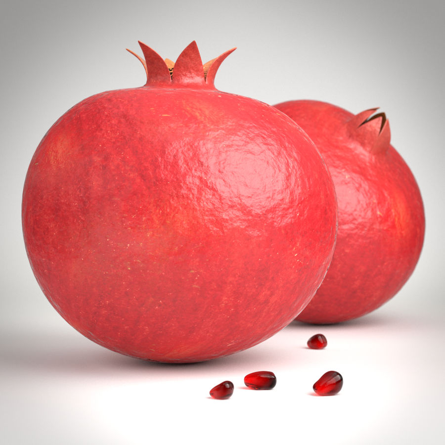 pomegranate royalty-free 3d model - Preview no. 1