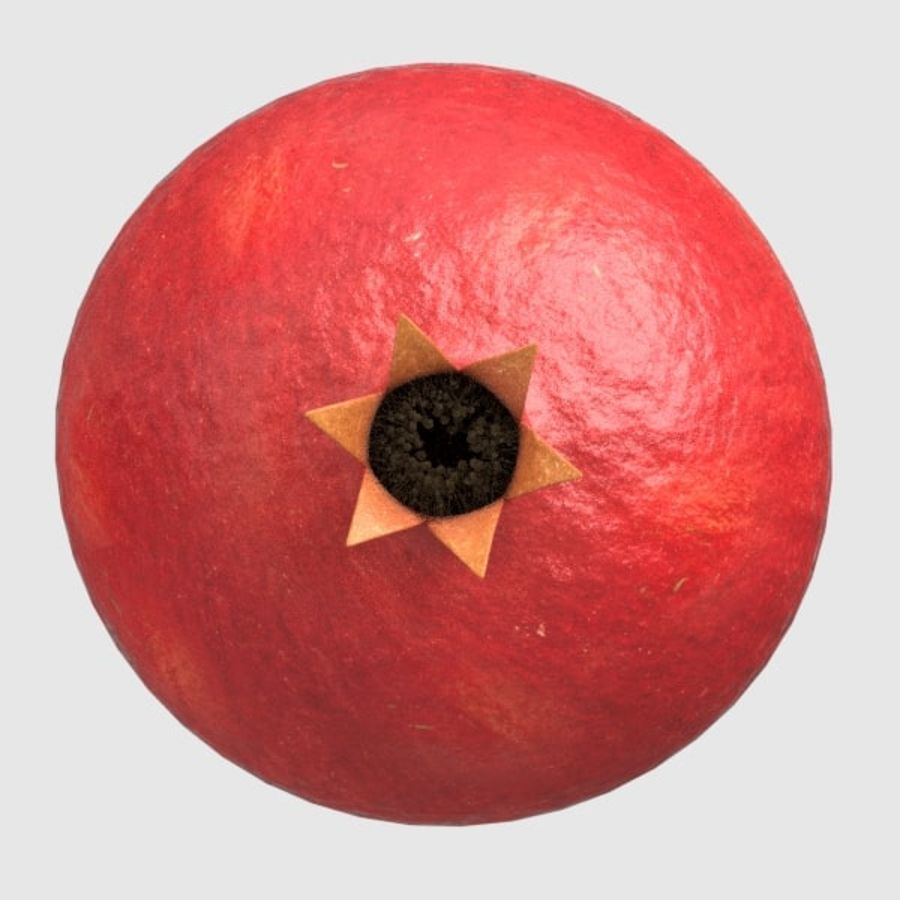 pomegranate royalty-free 3d model - Preview no. 2