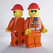 Lego Worker 3d model