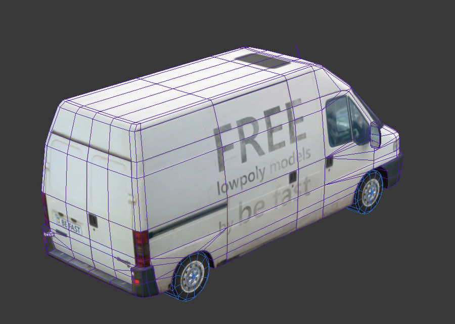 Fiat Ducato 1999 royalty-free 3d model - Preview no. 11