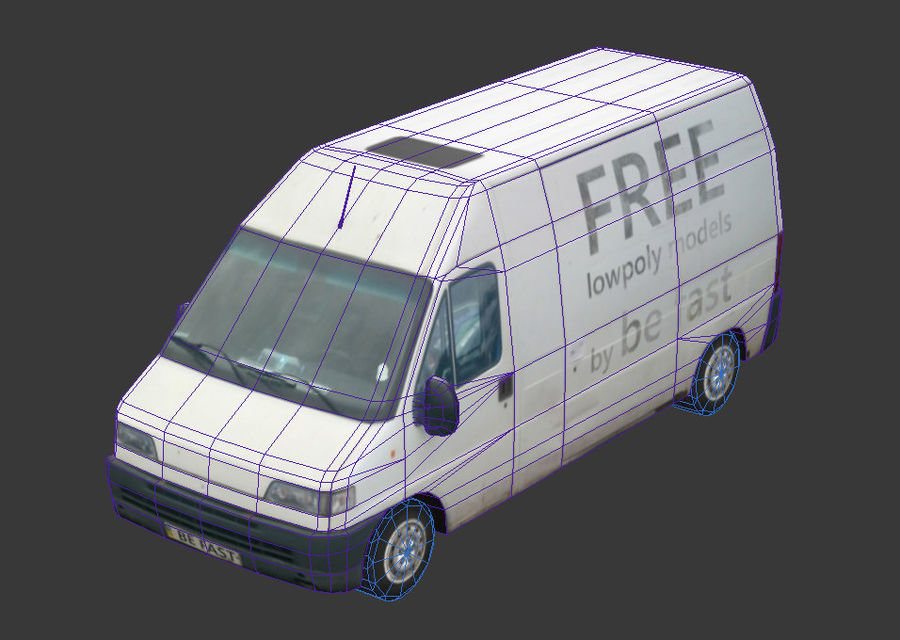 Fiat Ducato 1999 royalty-free 3d model - Preview no. 10