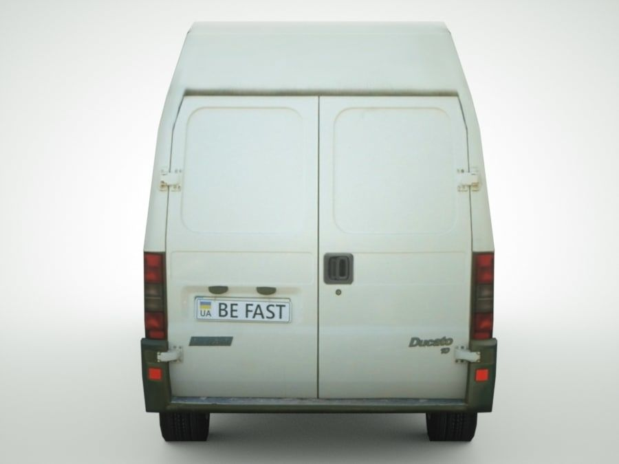 Fiat Ducato 1999 royalty-free 3d model - Preview no. 5