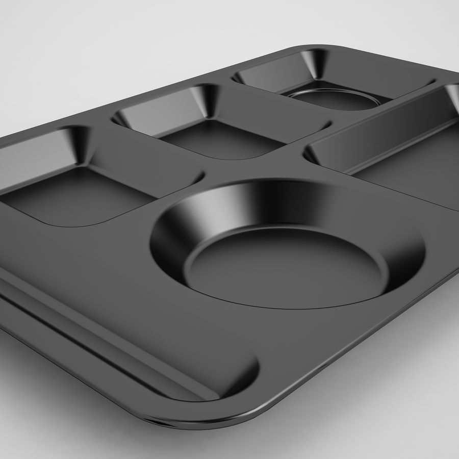 Lunch Food Tray 01 Black royalty-free 3d model - Preview no. 15
