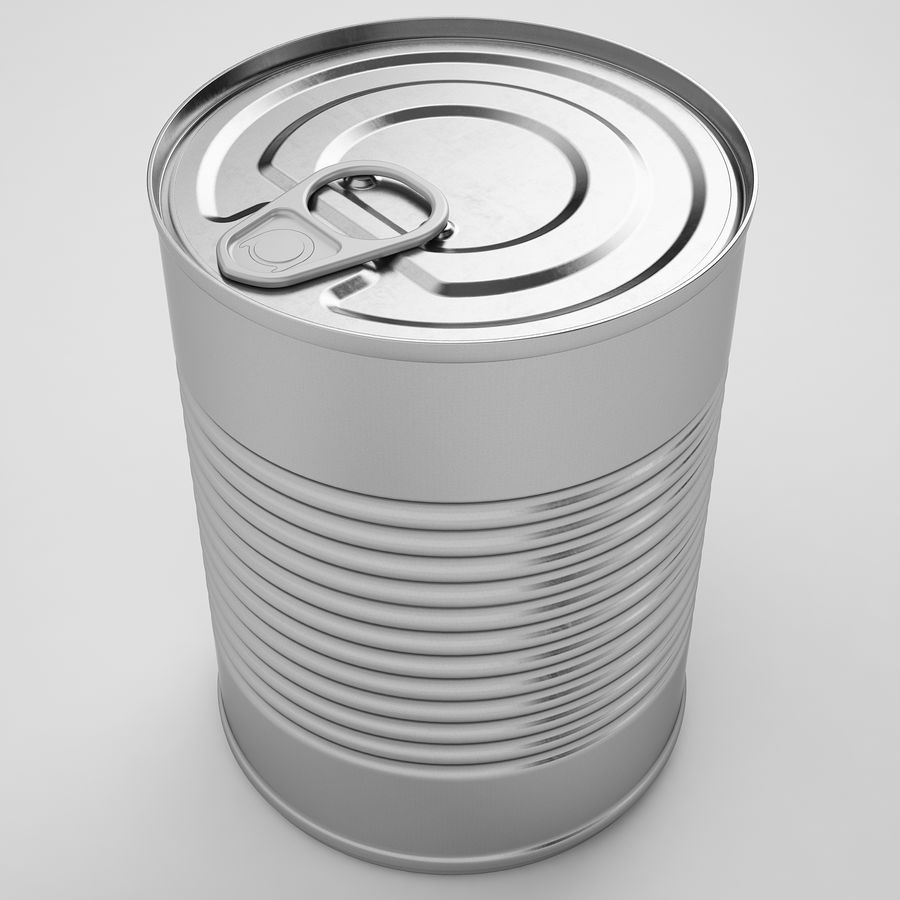 Food Can 02 royalty-free 3d model - Preview no. 13