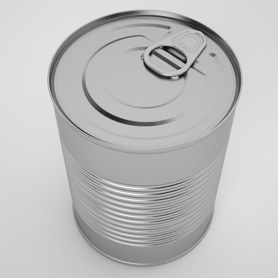 Food Can 02 royalty-free 3d model - Preview no. 9