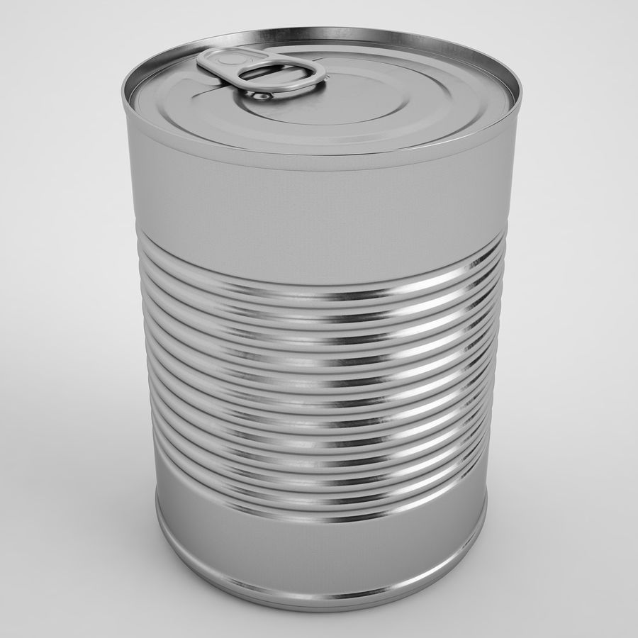 Food Can 02 royalty-free 3d model - Preview no. 2