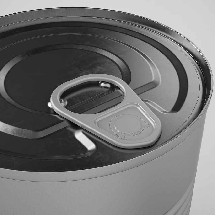 Food Can 02 royalty-free 3d model - Preview no. 15