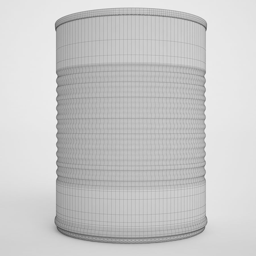 Food Can 02 royalty-free 3d model - Preview no. 6